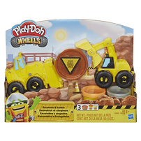 Play-Doh Wheels Excavator And Loader Toy Construction Trucks