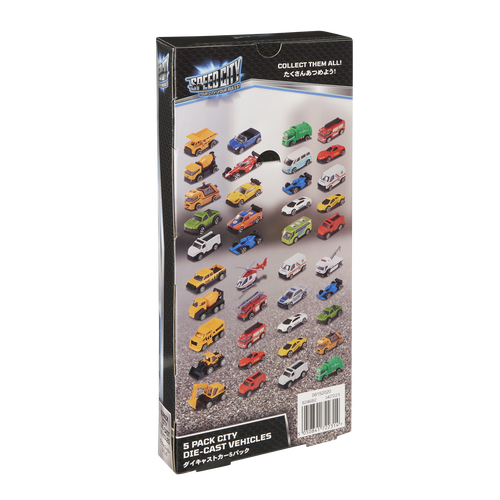 Speed City 5 Pack City Die-cast Vehicles