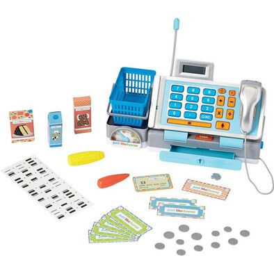 Just Like Home Talking Cash Register (Blue)
