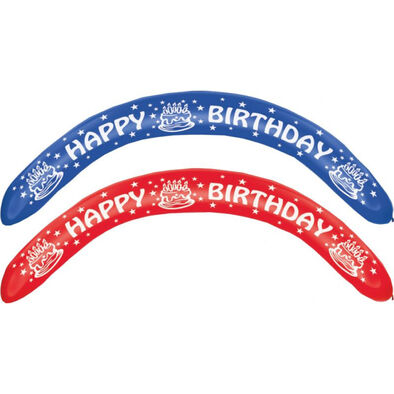 Everts 2 Pcs Happy Birthday Banner Balloons