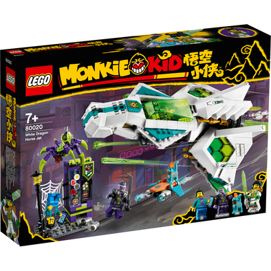 LEGO Monkie Kid White Dragon Horse Jet 80020
