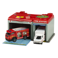 Speed City Emergency Station with Fire Truck & Ambulance