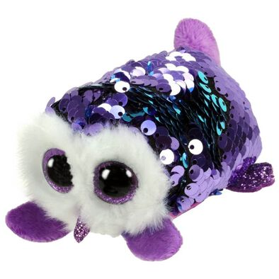 Ty Teeny Tys Moonlight Sequin Purple Owl