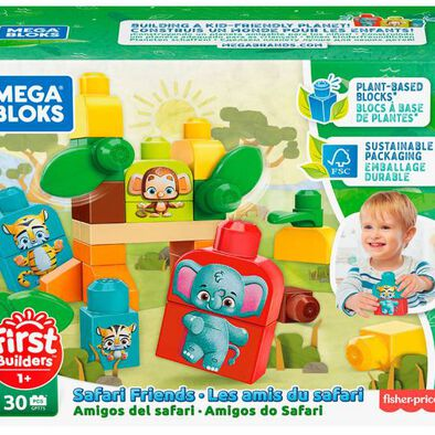 Mega Bloks First Builders Eco Safari Friends