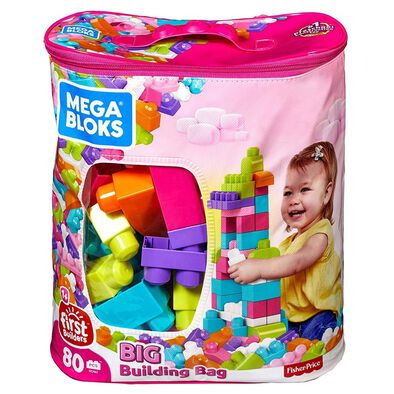 Mega Bloks Big Building Bag 80 Pieces