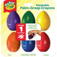 Crayola 6 Colours Washable Palm Grasp Crayons