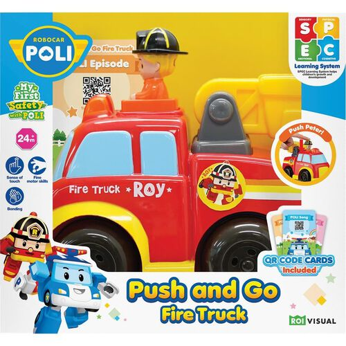 Robocar Poli Push And Go Fire Truck