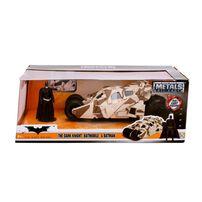 Metals Die Cast DC Comics Batman 1:24 2008 The Dark Knight Batmobile & Batman