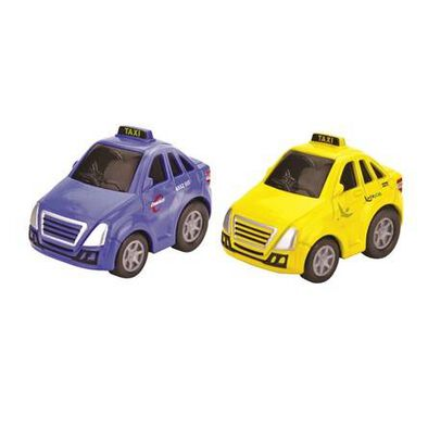 Fast Lane Pull Back Diecast Micro Singapore Taxi Set