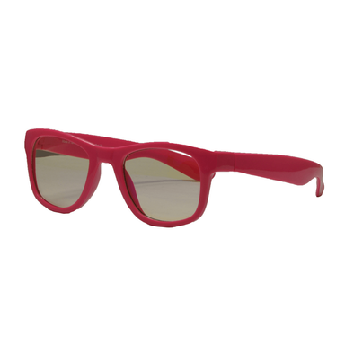 Real Shades Screen Shades With Pouch 2 Years Neon Pink Iconic Style Flexible Frame With Blue Light Yellow Lens