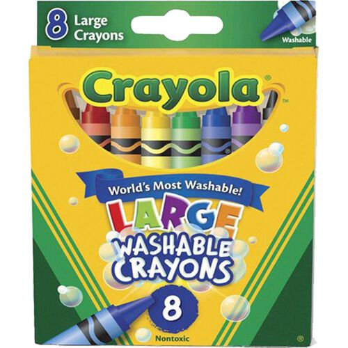 Crayola 8 Pack Large Washable Crayons