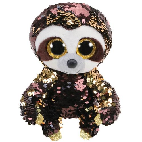 Ty Flippables 6 Inch Dangler Sequin Sloth