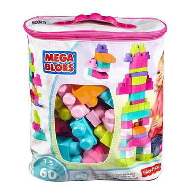Mega Bloks First Builders Big Building Bag Pink 60 Pieces