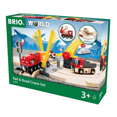 Brio Rail and Road Crane Set