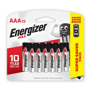 Energizer Max + Powerseal Technology AAA Alkaline Batteries 12 Pack