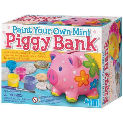 4M Paint Your Own Mini Piggy Bank