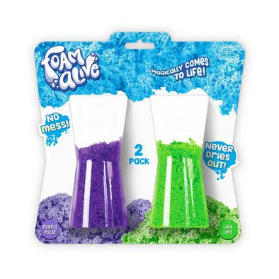 Foam Alive Purple Pulse & Lava Lime 100 Gram 2 Pack