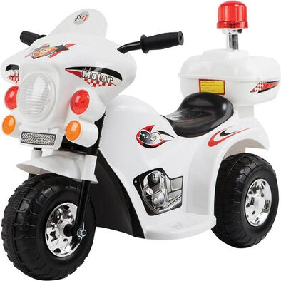 Ocie Battery Operated 6V Rechargeable Motorcycle Ride-On (White)