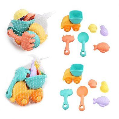 Hong Yuan Sheng Beach Toy Car Set 8 Pieces Assorted