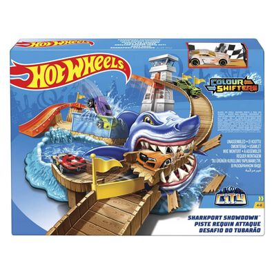 Hot Wheels Colour Shifters Sharkport Showdown Trackset