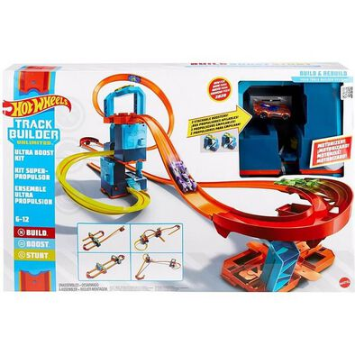 Hot Wheels Track Builder Unlimited Ultra Boost Kit Motorized Set