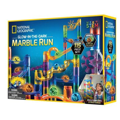 National Geographic 115 Pieces Glow-In-The-Dark Marble Run
