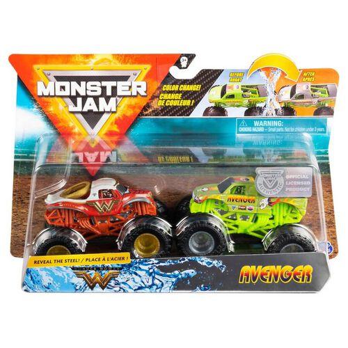 Monster Jam 1:64 Colour Change 2 Packs - Assorted