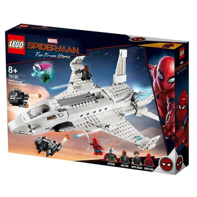 LEGO Marvel Spider-Man Far From Home Stark Jet and Drone Attack 76130