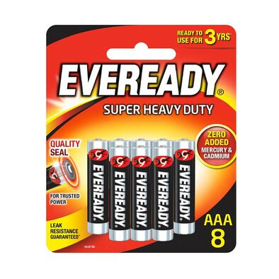 Eveready Super Heavy Duty AAA 8 Pack