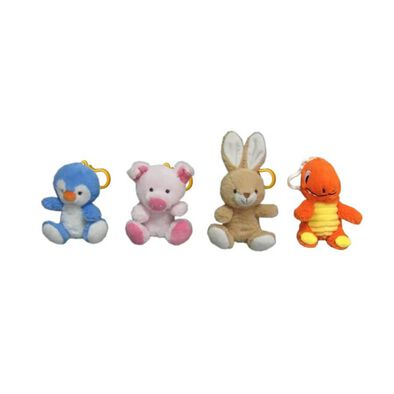 Animal Alley 4.5 Inch Key Chain Soft Toy - Assorted