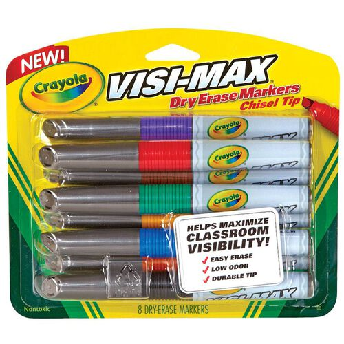 Crayola Visi-Max Whiteboard Dry Erase Markers - 8 Pack