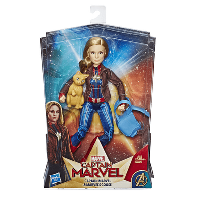 Marvel Captain Marvel Captain Marvel and Marvel's Goose Figure