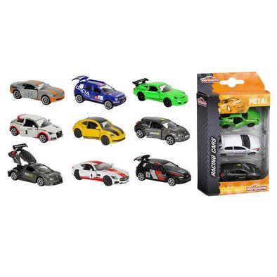 Majorette Racing 3-Pack Set - Assorted