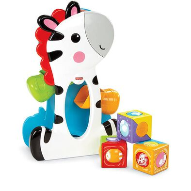 Fisher-Price Rolling Blocks Tumbling Zebra