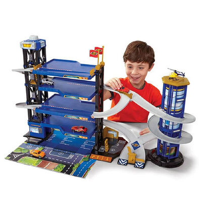 Fast Lane Multi Level Parking Garage Playset