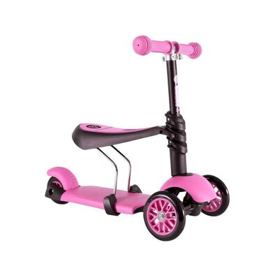 Yvolution Y Glider 3 In 1 (Black/Pink)