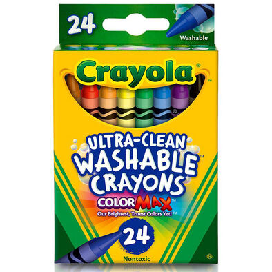 Crayola 24 Ct Washable Regular Size Crayon