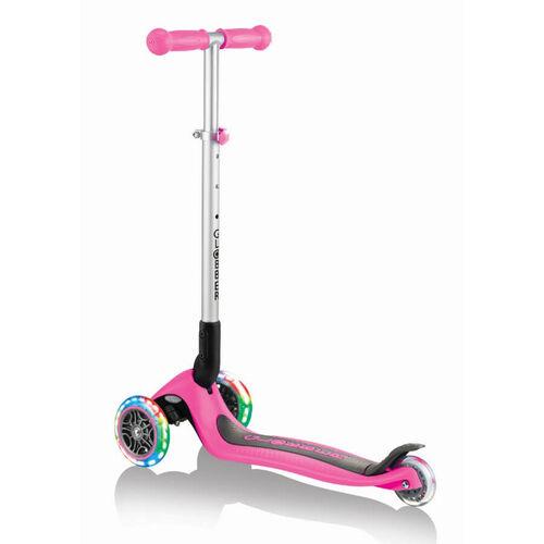 Globber Primo Foldable Lights Deep Pink Scooter