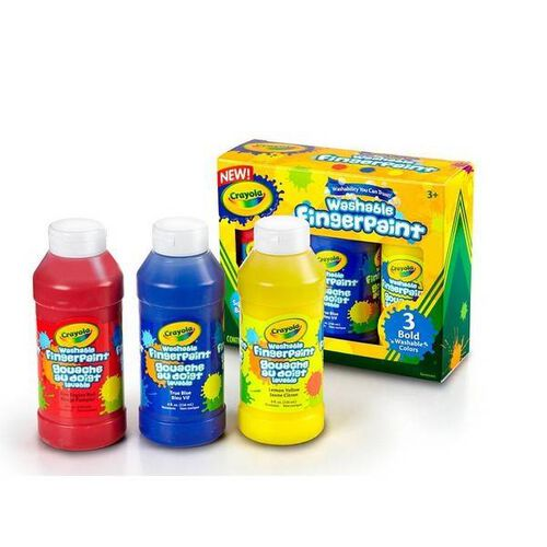 Crayola 3Ct Washable Finger Paint Bold