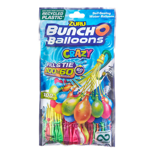 Zuru Bunch O Balloons 100 Rapid Filling Self Sealing Water Balloons
