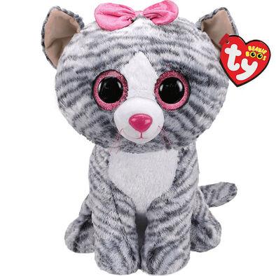 TY Beanie Boos 16 Inch Large Size Kiki Grey Cat