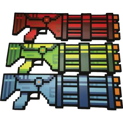 Wing Fung Pixel Long Blaster With Light And Sound - Assorted