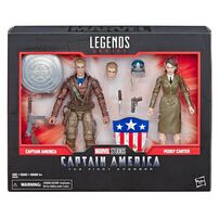 Marvel Legends Series 80th Anniversary Captain America And Peggy Carter