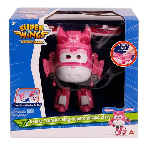 Super Wings Deluxe Transforming Supercharged Dizzy