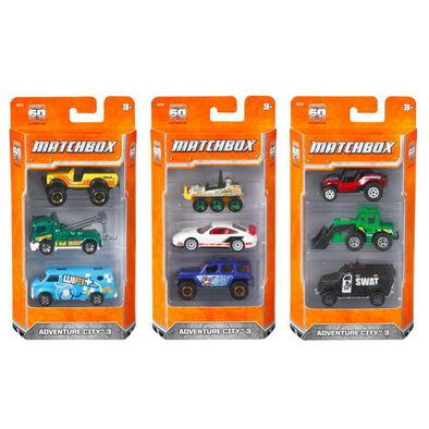Matchbox Basic 3 Pack - Assorted