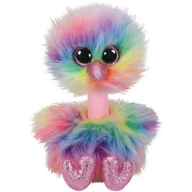 Ty Beanie Boos 13 Inch Med Asha Rainbow Ostrich
