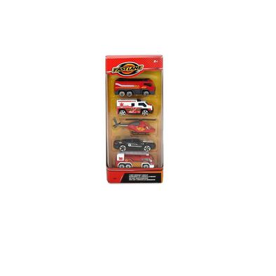 Fast Lane 5 Pack Emergency Vehicles