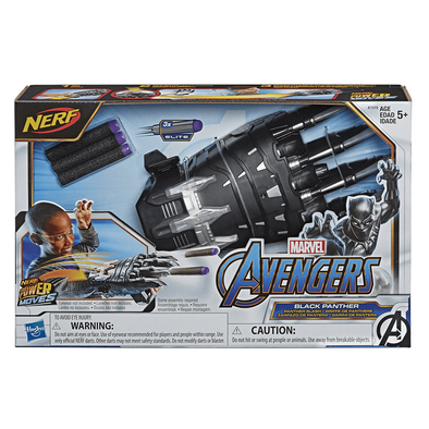 NERF Power Moves Marvel Avengers Black Panther Power Slash