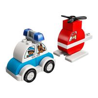 Lego Duplo Creative Play Fire Helicopter & Police Car 10957