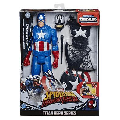 Marvel Spider-Man Venmized Captain America Blast Gear